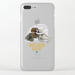 until death do us part (PLASTICOCEANS) Clear iPhone Case