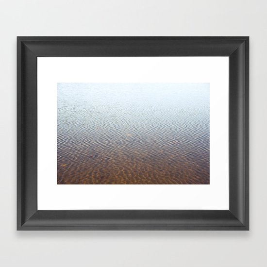 Silent water Framed Art Print