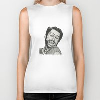 charlie Biker Tanks featuring Charlie by Molly Morren