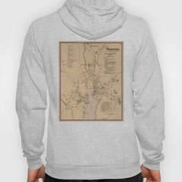 Vintage Map of Westport CT (1867) Hoody