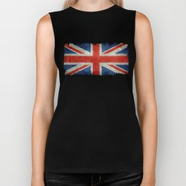 British flag of the UK, retro style Biker Tank
