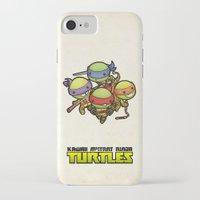 ninja turtles iPhone & iPod Cases featuring Kawaii Mutant Ninja Turtles by Squid&Pig