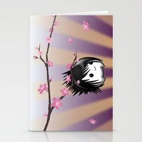 asia Stationery Cards featuring Zen Cumi by Goat Games
