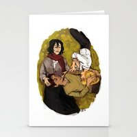 attack on titan Stationery Cards featuring A Nap on Titan by crowry