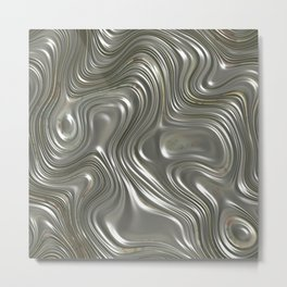 Modern abstract metal geometrical lines pattern Metal Print