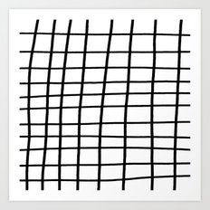 Hand Grid Large Art Print