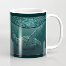 """Eclipse"" by Amber Marine - Sea Turtle, Acrylic Painting, (Copyright 2015) Coffee Mug"