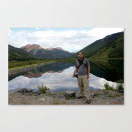 Photographer on Crystal Lake Canvas Print