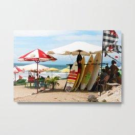 Bali - Beach Surfshop Metal Print