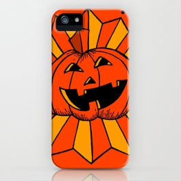 Pumpkin Burst- Orange iPhone Case