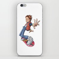 marty mcfly iPhone & iPod Skins featuring Marty by Havard Glenne