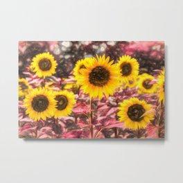 Sunflower Vibrant Art Metal Print