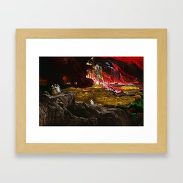The Destruction of Sodom and Gomorrah Landscape Painting by Jeanpaul Ferro Framed Art Print