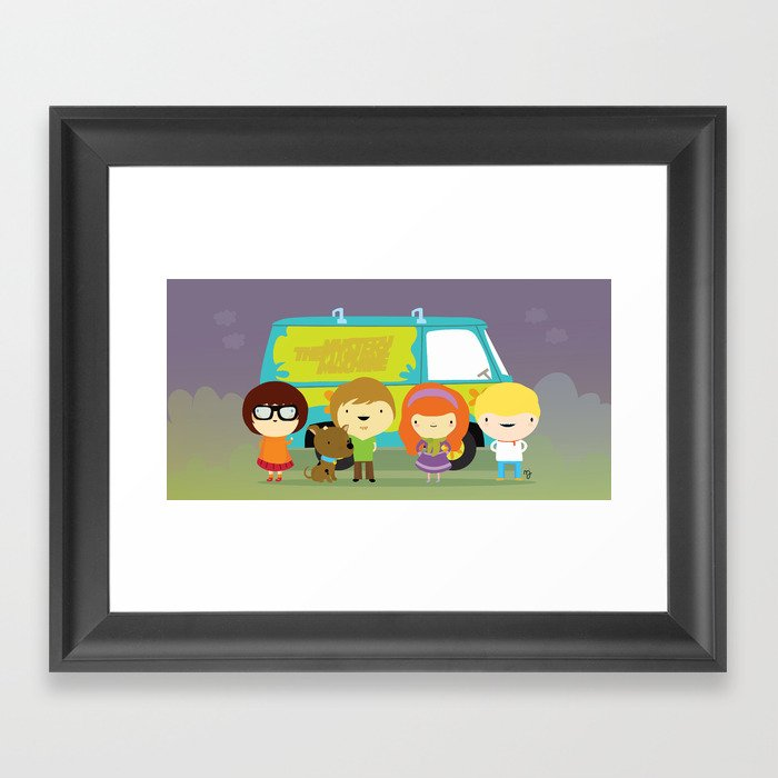 Little scooby characters Framed Art Print