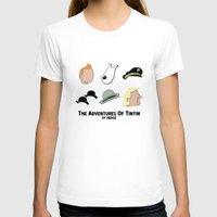 tintin T-shirts featuring Tintin, Minimalist by Faellen