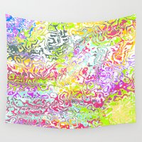 confetti Wall Tapestries featuring Confetti by Abstract Designs