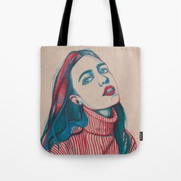 Colours as she sighs Tote Bag