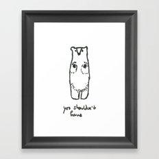 Have a Bear Framed Art Print