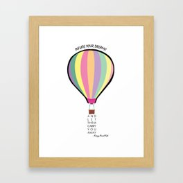 Inflate Your Dreams Framed Art Print