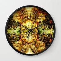 fibonacci Wall Clocks featuring Fibonacci 3 by Aleks7