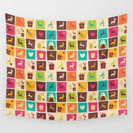 Christmas square pattern 02 Wall Tapestry