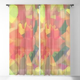 Abstract Polygon Forest Sheer Curtain
