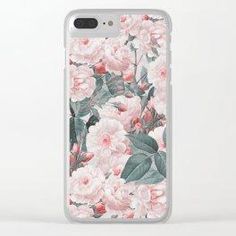 Vintage Flower pattern Clear iPhone Case