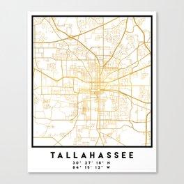 TALLAHASSEE FLORIDA CITY STREET MAP ART Canvas Print