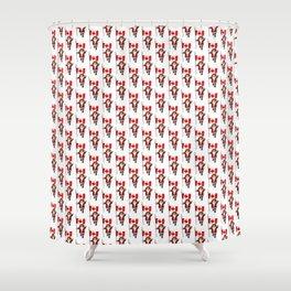 Santa Claus Visits Canada Shower Curtain