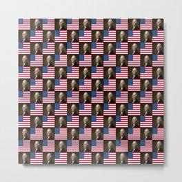 Flag and portrait:  George Washington. Metal Print