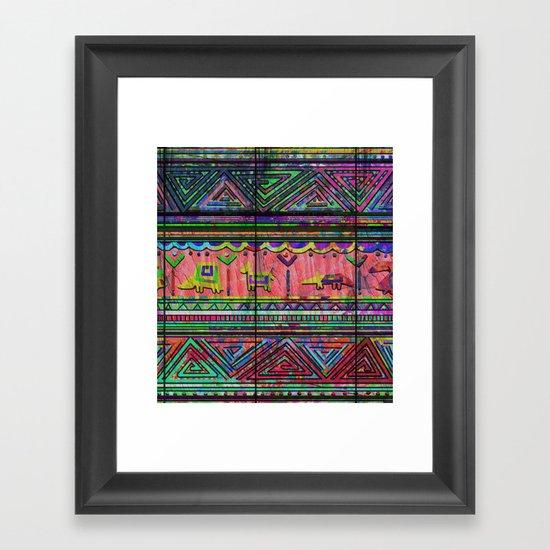 Cobertor Nativ Framed Art Print