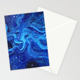Galaxy Painting Acrylic Galaxy Art Stationery Cards