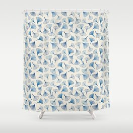 Ginko leaves blue Shower Curtain