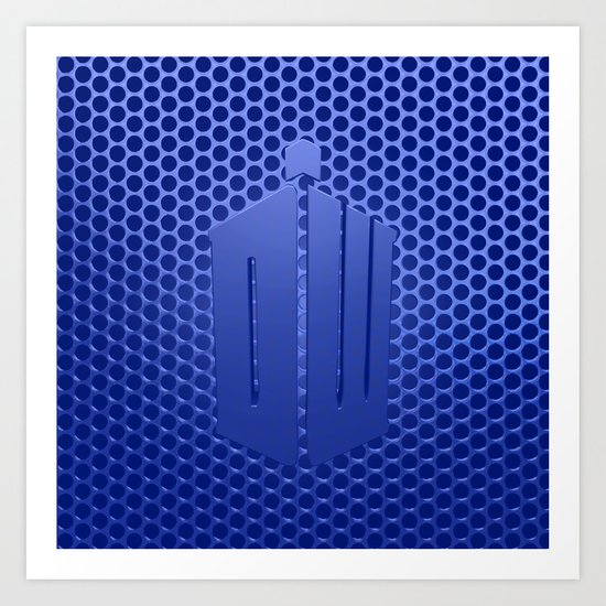 Tardis Logo Art Print