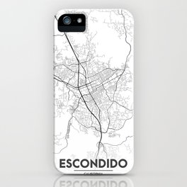 Minimal City Maps - Map Of Escondido, California, United States iPhone Case