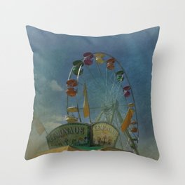 Textured Ferris Wheel Throw Pillow
