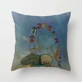 Textured Ferris Wheel Throw Pillow