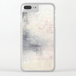 """1198 abstract beige/silver wall"" Clear iPhone Case"