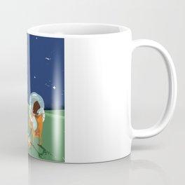 Dog Walking on the Moon Coffee Mug