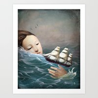 voyage Art Prints featuring Voyage by Christian Schloe