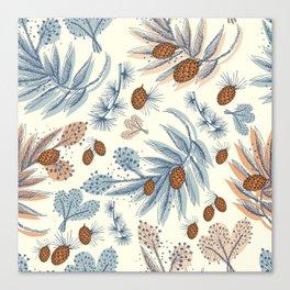 Winter floral Canvas Print