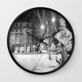Bikes and Black and White Wall Clock