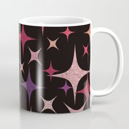 Shimmering Purple, Red, Pink and White Stars Coffee Mug