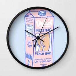 Missing Peach Bum Wall Clock
