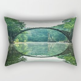 devils bridge gablenz Germany Rectangular Pillow