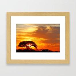 African sunrise Framed Art Print