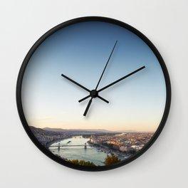 Blue Danube Budapest Wall Clock