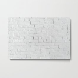 White Brick Wall - Photography Metal Print