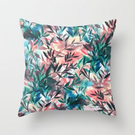 Changes Coral Throw Pillow