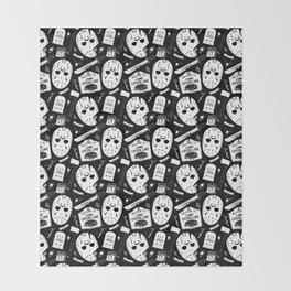 Welcome to Camp Crystal Lake! Throw Blanket